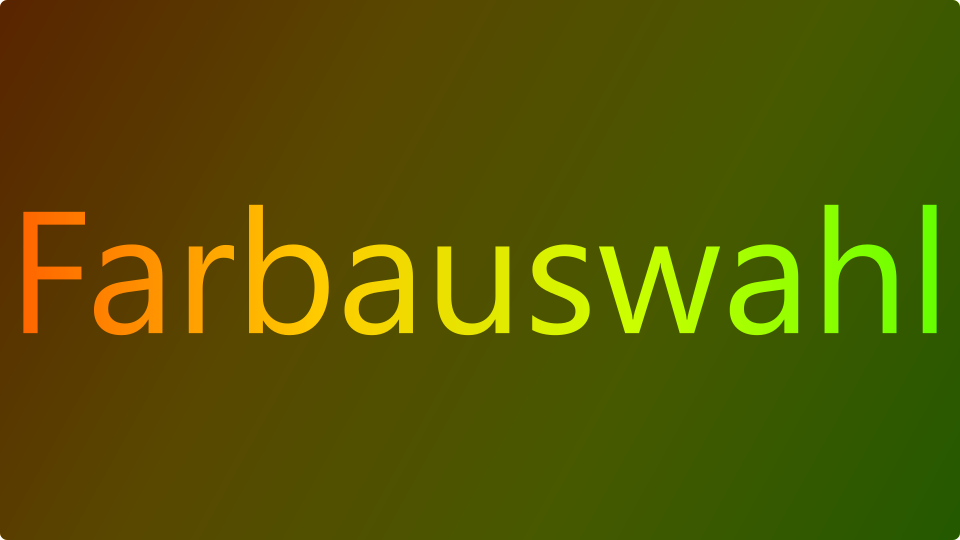 Feed Farbauswahl