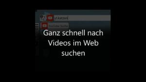 Nach Videos im Web suchen