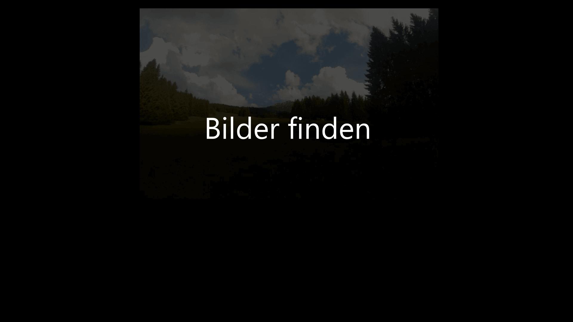 Bilder finden
