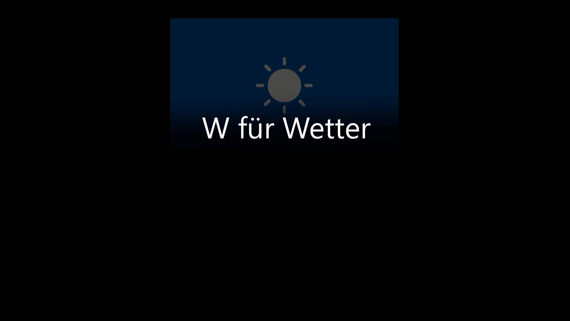 W für Wetter